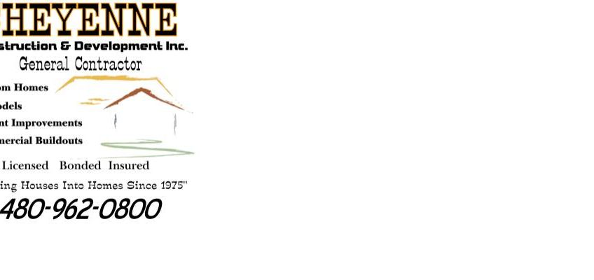 Logo for Cheyenne Construction. A new home builder, custom home builder and remodeling contractor